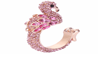 Crystal Rhinestone Open Ring Gold Tone For Party - sparklingselections