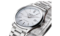 Luxury Date Stainless Steel Band Quartz Sport Analog Wrist Watch for men - sparklingselections