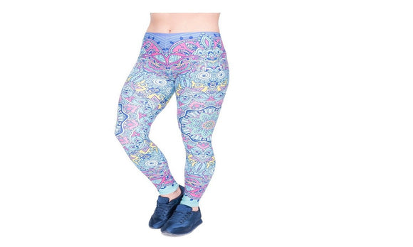 Womens Fantasy Printing High Waist Bottoms Slim Leggings