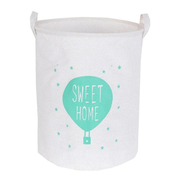 Sweet Home Dirty Clothes Washing Laundry Basket Bag Toy Storage Box