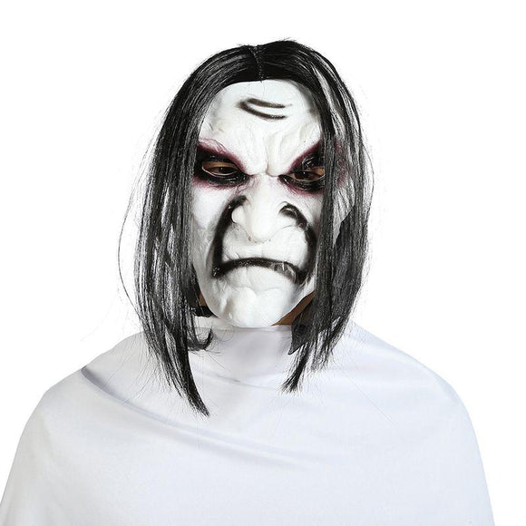Halloween Ghost Zombie Horror Mask With Hair
