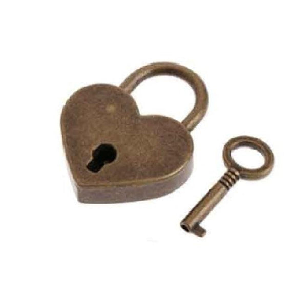 Home Care Heart Shape Vintage Old Antique Style Key Lock With key