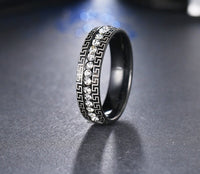 Stainless Steel Black Ring For Women (7,8,9)