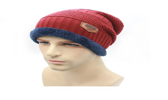fashion Knit Beanie warmer Knitted Winter Hats For Men