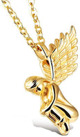 Titanium Steel Gold Angel Girl Wings Charm Pendant Necklace Best Selling Cheap Necklace Jewelry For Women, Gifts
