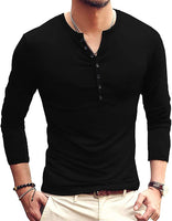 Men T-shirts Long Sleeves V Neck Pullover Slim Fit Casual Minimalist Male tops & tees Winter - sparklingselections