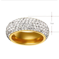 Cubic Zirconia Titanium Stainless Steel Rings For Women - sparklingselections
