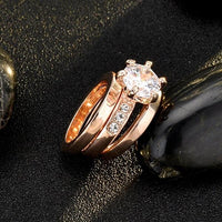 rose gold plated rings