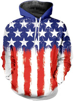 Summer Hooded American Flag Printed Sports Shirts Pure Large Size Male Autumn Sweatshirt - sparklingselections