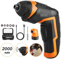 6V Battery Operated Cordless Screwdriver Mini Rotary Wireless Electric Screw Driver