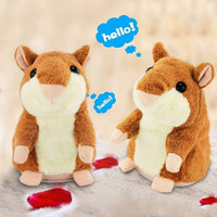 Mouse Pet Plush Toy Hot Cute Speak Talking Sound Record Hamster What You Say Kids Talking Plush Buddy Mouse - sparklingselections