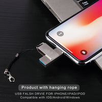 Multifuctional 3 in 1 Flash Drives Pendrive For iPhone iPad Android USB 3.0 32GB Memory Drive with Lightning - sparklingselections