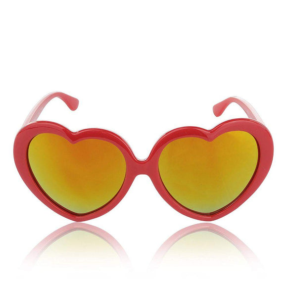 Sunglasses For Women Heart Shaped Retro Glasses For Teen Girls 100% UV Protection