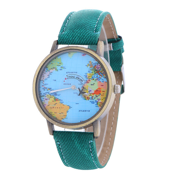 New Global Travel By Plane Map Watch For Women