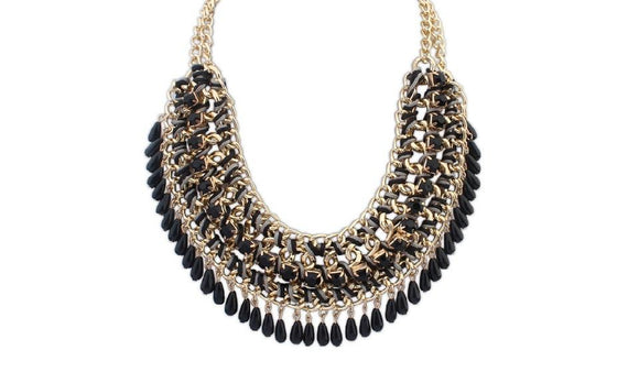 New Fashion Rainbow Exaggerated Big Statement Necklaces