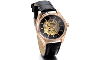 Genuine Leather Mechanical Watches For Men - sparklingselections