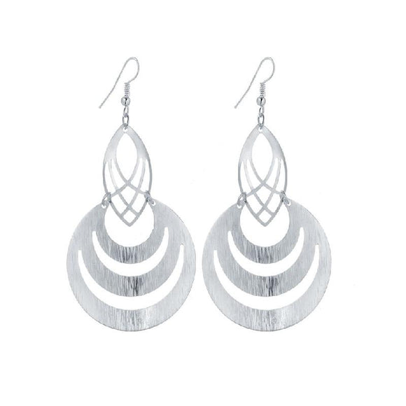 New Stylish Round Shape Design Dangle Long Earrings