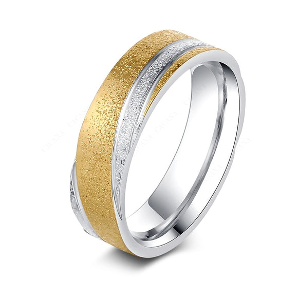 New Stylish Fashion Shining Sand Titanium Rings For Women