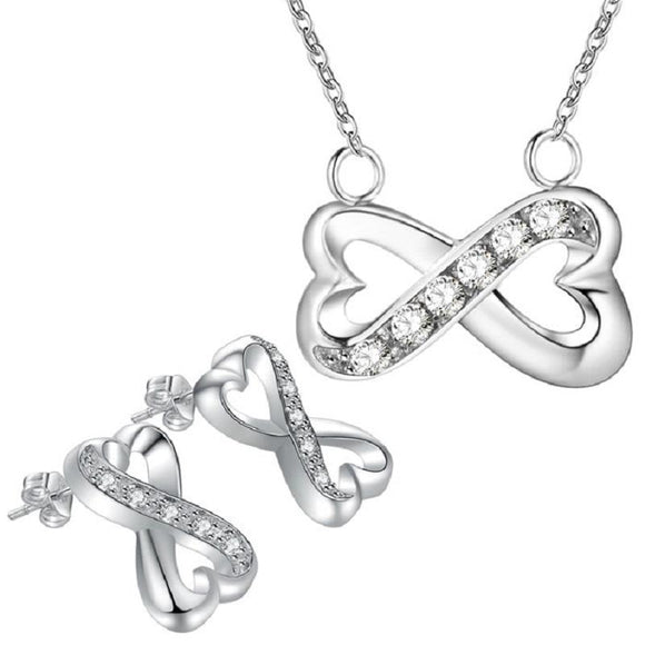 New Infinity Hear Design Bridal Jewelry Set