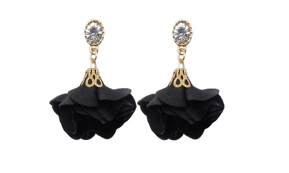 Rose Flower Drop Earrings For Women
