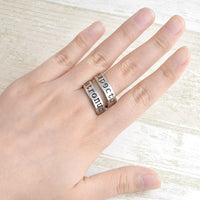 New Magic Book Minimalist Inspired Twist Geeky Ring