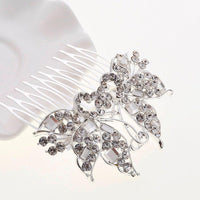 New Crystal Rhinestone Flower Hair Piece For Bride - sparklingselections