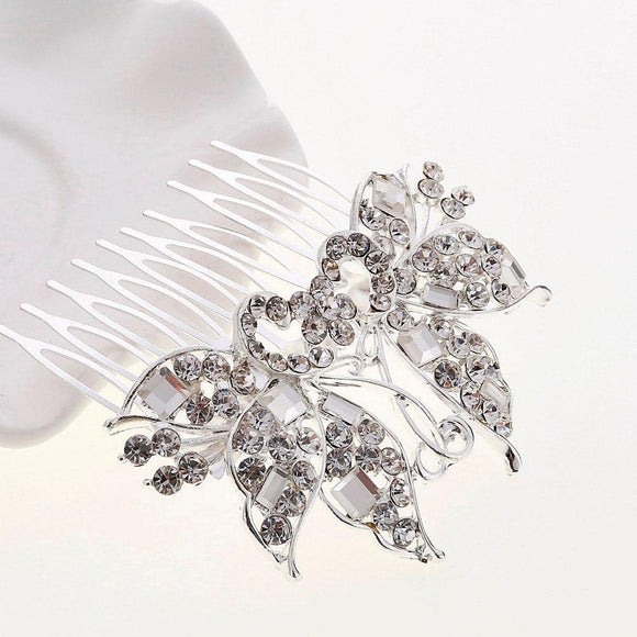 New Crystal Rhinestone Flower Hair Piece For Bride