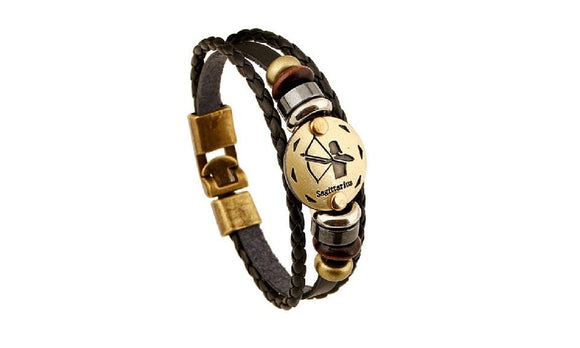 Bangles Handmade Vintage Punk Leather Bracelet For Men Women