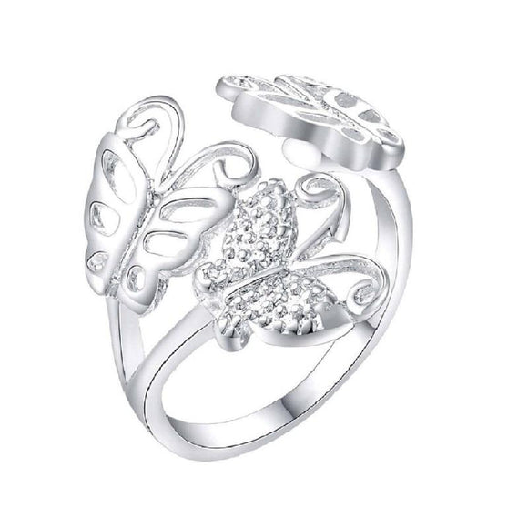 New Fashion Silver Butterfly Shape Ring