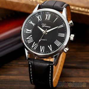 New Fashion Roman Dial Elegant Leather Wrist Watch