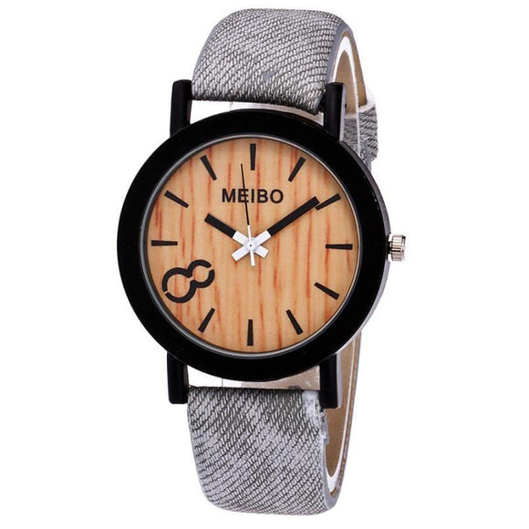 New Wooden Modeling Casual Quartz Wrist Watch