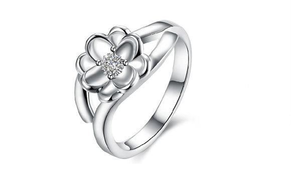 Women's Bague Silver Plated Ring