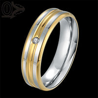New Stylish Golden Stripes Steel Finger Ring