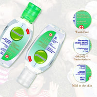 Antibacterial Hand Sanitizer 75% Bacteriostatic Gel Hand Sanitizer Wipe Out Bacteria 50ml Disposable Disinfectant Gel Green Flip Hand Sanitizer,