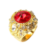 New Fashion Vintage Luxury Big Red Resin Crown Ring