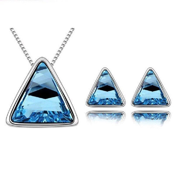 New Stylish Triangle Design Shape Jewelry Set