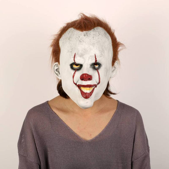 Halloween Funny Joker Face With Smile Scary Mask For Party