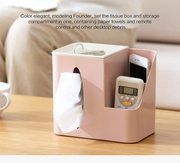 Multi-functional Tissue Box Remote Holder  Box