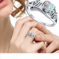 New Fashion Colorful Rhinestone Heart Shape Crystal Rings