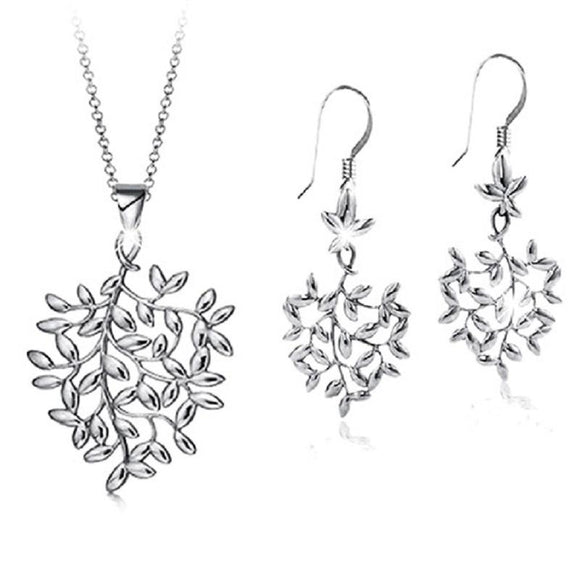 New Fashion Tree Leaf Design Shape Jewelry Set