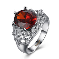 New Stylish Red And White CZ Fashion Ring For Women