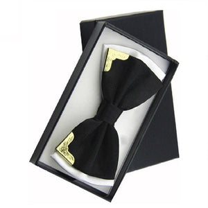 Men Fashion Luxury Metal Bow Ties