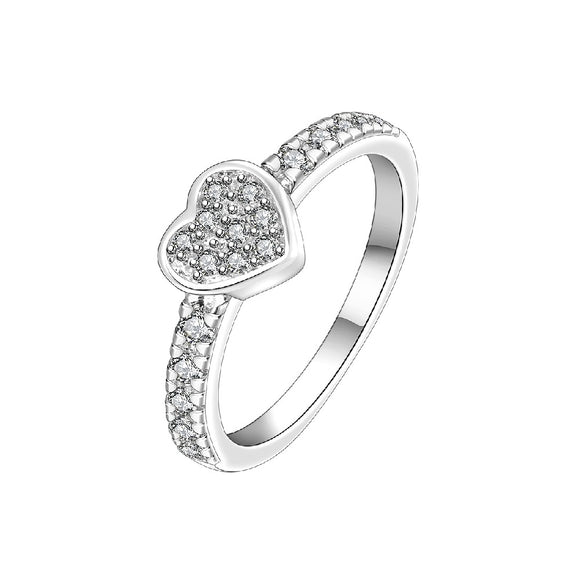 New Cubic Zirconia Austrian Crystal Silver Plated Rings