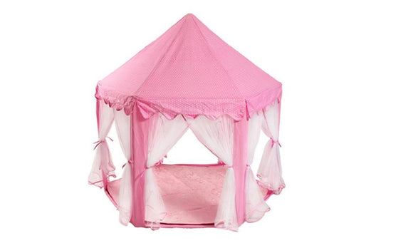 Lovely Girls Pink Princess Castle Cute Playhouse Children Kids Play Tent