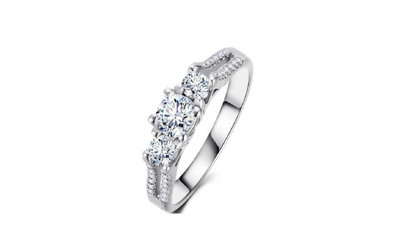 Bague Zirconia Engagement Ring