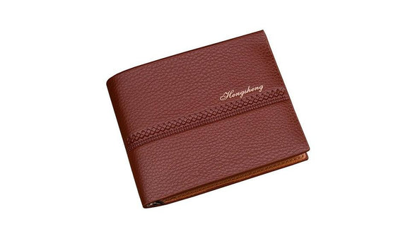 Genuine Short Leather Card Holder Wallet For Men