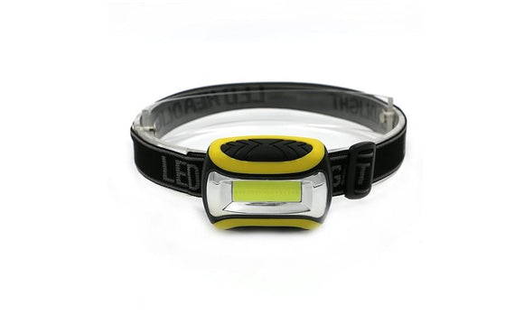 3 Modes Waterproof COB LED Flashlight Outdoors Headlight