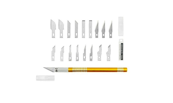 Stainless Steel Blades Precision Hobby Knife for Arts 19Pcs