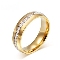 New Fashion Gold Plated Stainless Steel Wedding Ring