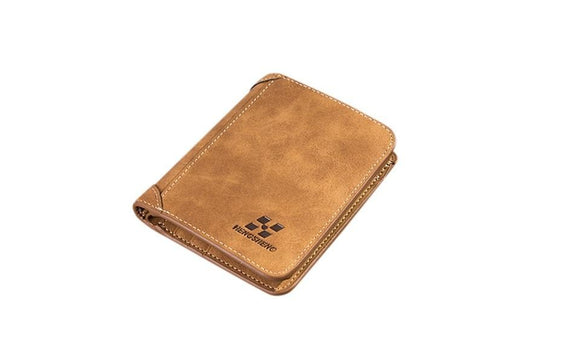 New Arrivals Men Blocking Short Leather Card Holder Wallet For Men
